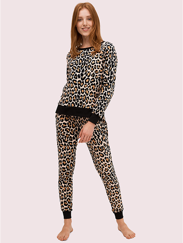 cheetah long pj set, , rr_large