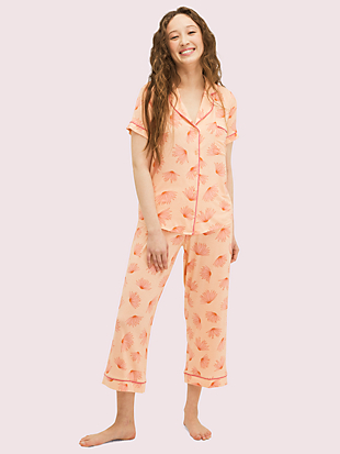 falling flower long pj set by kate spade new york non-hover view
