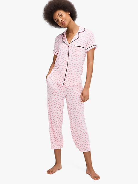 pucker up capri pj set by kate spade new york