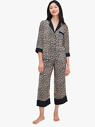 leopard long pj set by kate spade new york non-hover view