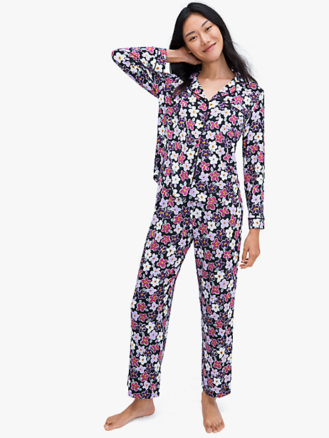 dotty stripe long pj set by kate spade new york