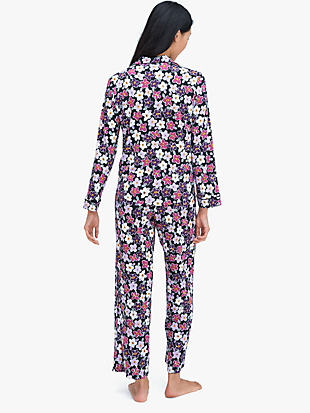 painted pansy long pj set by kate spade new york hover view