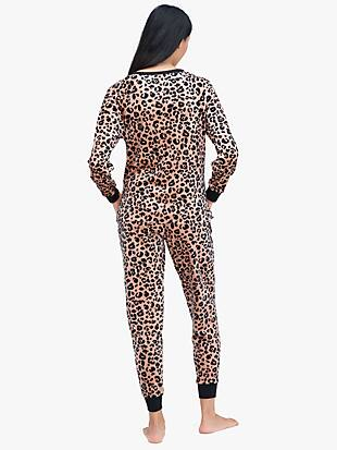 painted leopard jogger pj set by kate spade new york hover view