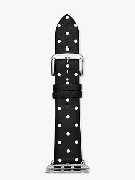 black dot leather 38/40mm apple watch® strap by kate spade new york