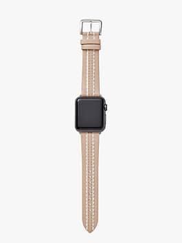vachetta leather 38/40mm apple watch® strap, vachetta / stainless steel, medium