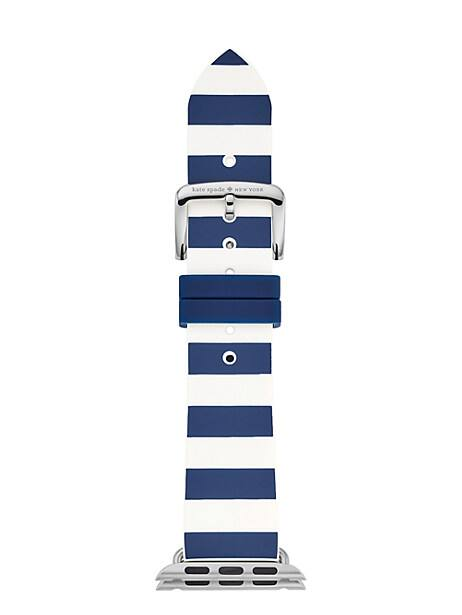 silicone stripe apple watch® strap by kate spade new york