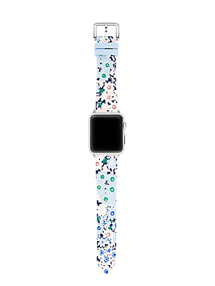floral silicone apple watch® strap by kate spade new york hover view