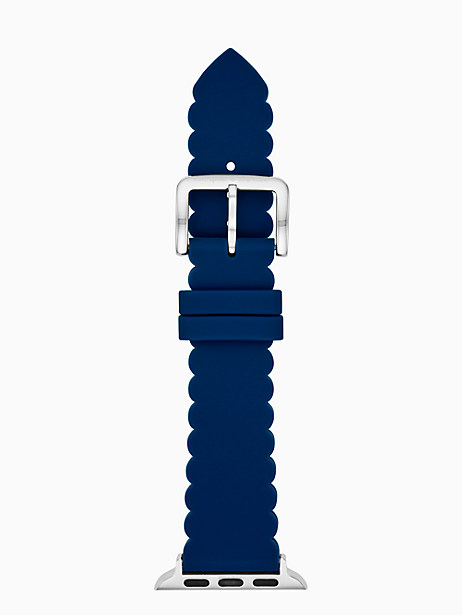 navy scallop silicone 38/40mm apple watch® strap by kate spade new york