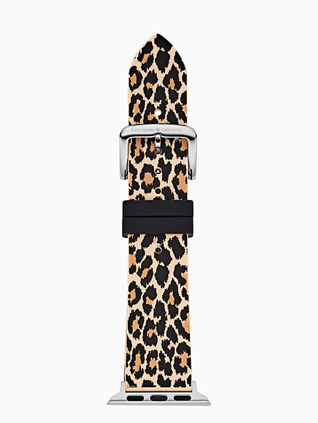 leopard silicone 38/40mm apple watch® strap by kate spade new york