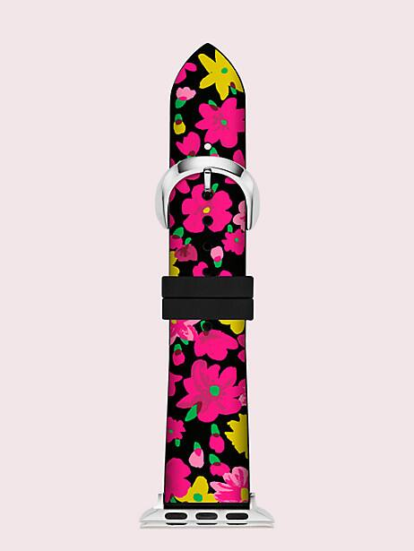 black floral silicone 38/40mm apple watch® strap by kate spade new york