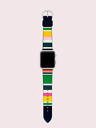 multi stripe silicone 38/40mm apple watch® strap by kate spade new york hover view