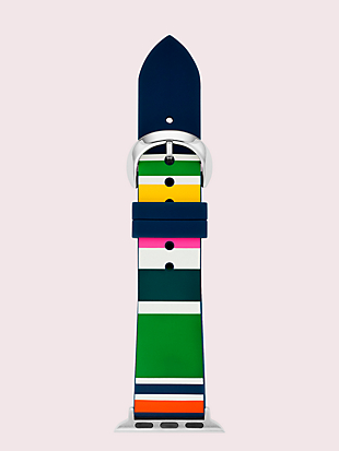 multi stripe silicone 38/40mm apple watch® strap by kate spade new york non-hover view