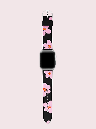 floral silicone 38/40mm apple watch® strap by kate spade new york hover view