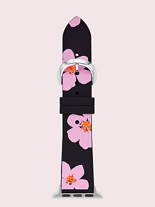 floral silicone 38/40mm apple watch® strap by kate spade new york non-hover view