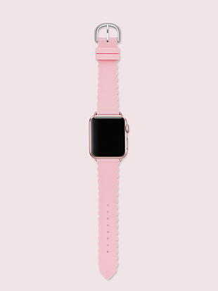 pink scallop silicone 38/40mm apple watch® strap by kate spade new york hover view