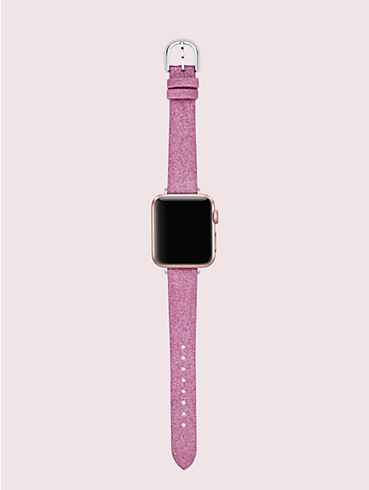 pink glitter leather 38/40mm apple watch® strap, , rr_productgrid