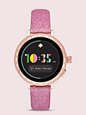 pink glitter leather 38/40mm apple watch® strap, , s7productThumbnail
