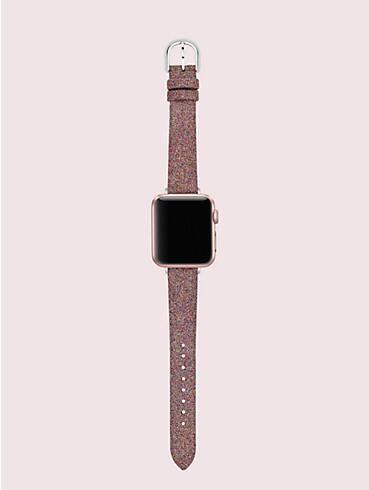 rainbow glitter leather 38/40mm apple watch® strap, , rr_productgrid