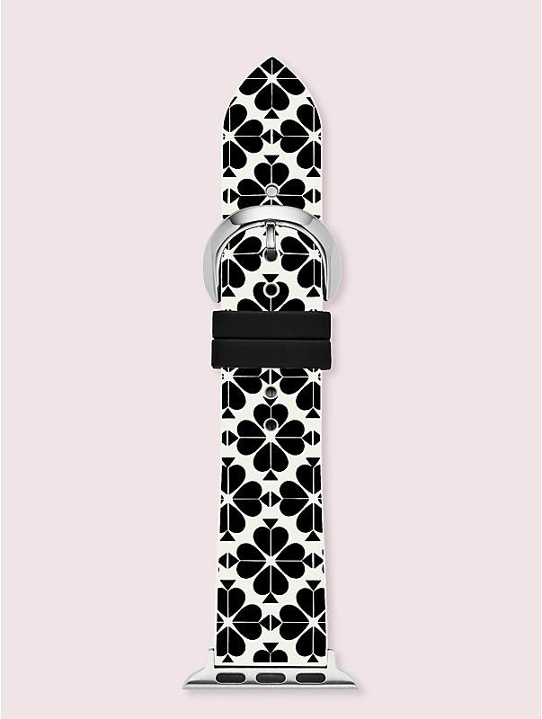 spade flower silicone 38/40mm apple watch® strap, , rr_large