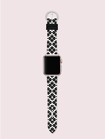 spade flower silicone 38/40mm apple watch® strap, , rr_productgrid