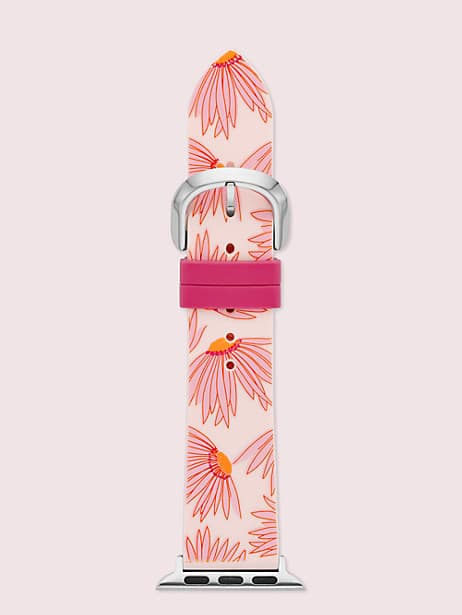 pink floral-print silicone 38/40mm band for apple watch® by kate spade new york