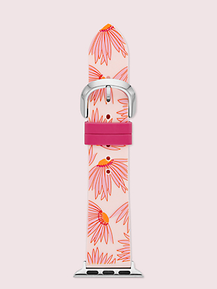 pink floral-print silicone 38/40mm band for apple watch® by kate spade new york non-hover view