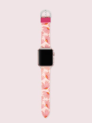 pink floral-print silicone 38/40mm band for apple watch® by kate spade new york hover view