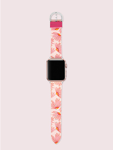 Rosafarbenes 38-/40-mm-Armband mit Blumenmotiv für Apple Watch®, , rr_productgrid