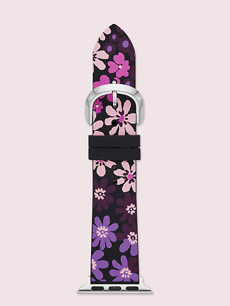 black floral-print silicone 38/40mm band for apple watch® by kate spade new york