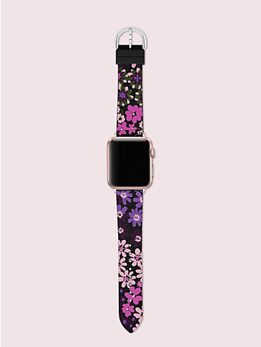 black floral-print silicone 38/40mm band for apple watch®, , rr_productgrid