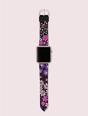 Schwarzes 38-/40-mm-Armband mit Blumenmotiv für Apple Watch®, , rr_productgrid