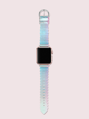 iridescent jelly scallop 38/40mm band for apple watch® by kate spade new york hover view