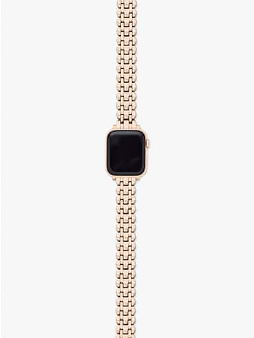 rose gold-tone stainless steel 38/40mm bracelet band for apple watch®, , rr_productgrid
