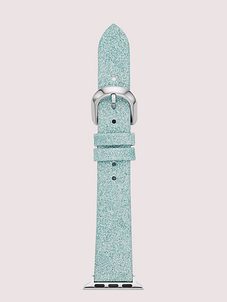 mermaid glitter leather 38/40mm band for apple watch® by kate spade new york
