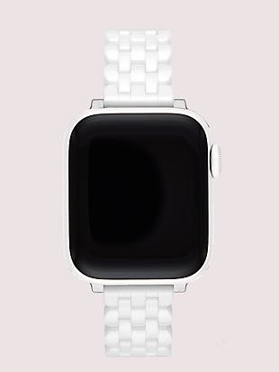 white ceramic 38/40mm apple watch® strap by kate spade new york non-hover view