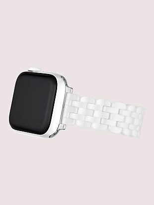 white ceramic 38/40mm apple watch® strap by kate spade new york hover view