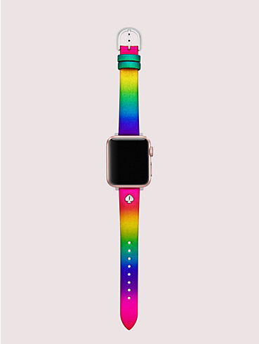 rainbow glitter leather 38/40mm band for apple watch® , , rr_productgrid