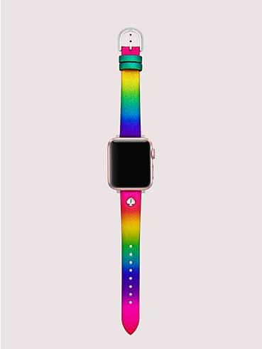 Rainbow Glitter Lederarmband für Apple Watch®, 38/40mm, , rr_productgrid