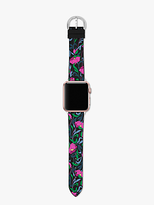 floral silicone 38/40mm band for apple watch® by kate spade new york hover view