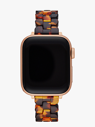 tortoiseshell acetate 38/40mm band for apple watch® by kate spade new york non-hover view