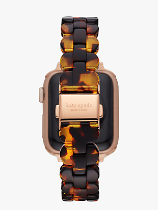 tortoiseshell acetate 38/40mm band for apple watch® by kate spade new york hover view