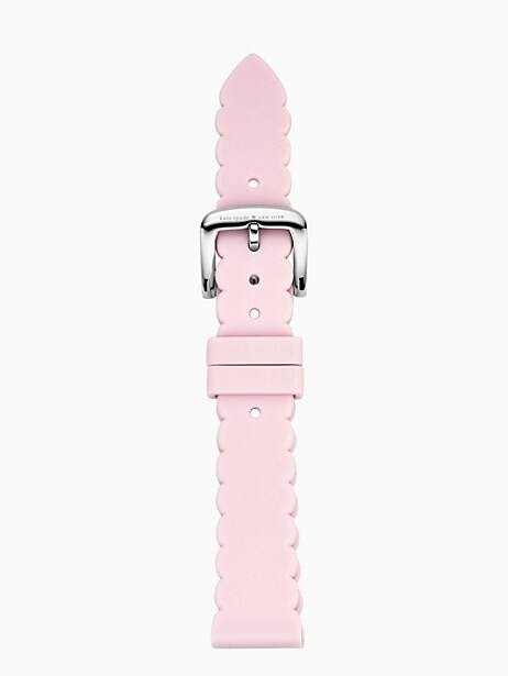 scallop pink silicone smartwatch strap by kate spade new york