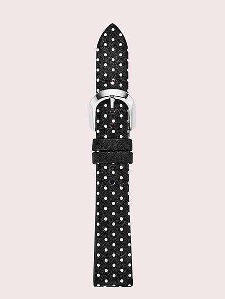 black dot leather smartwatch strap by kate spade new york