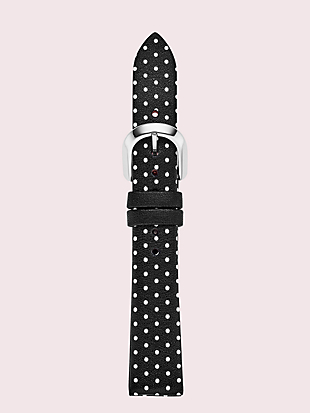 black dot leather smartwatch strap by kate spade new york non-hover view