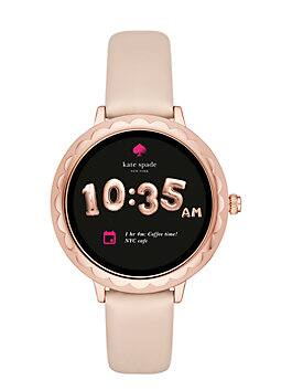 scallop touchscreen smartwatch, vachetta, medium