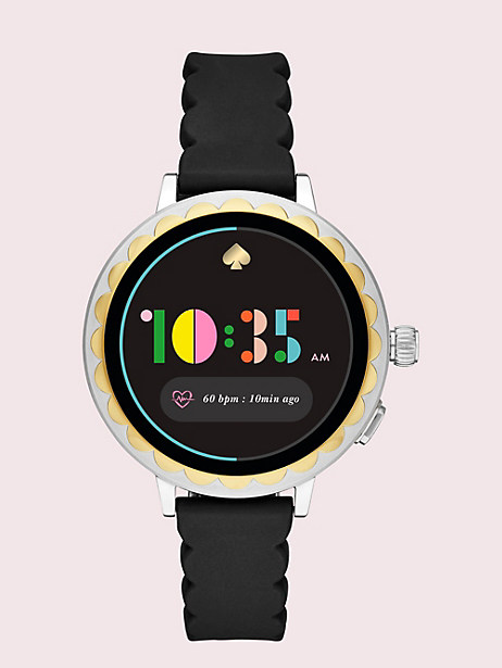 black silicone scallop smartwatch 2 by kate spade new york