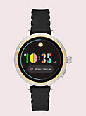 Smartwatch 2 mit Wellenrand aus schwarzem Silikon, , s7productThumbnail