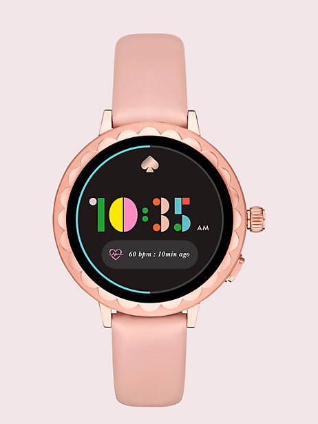 blush leather scallop smartwatch 2 by kate spade new york