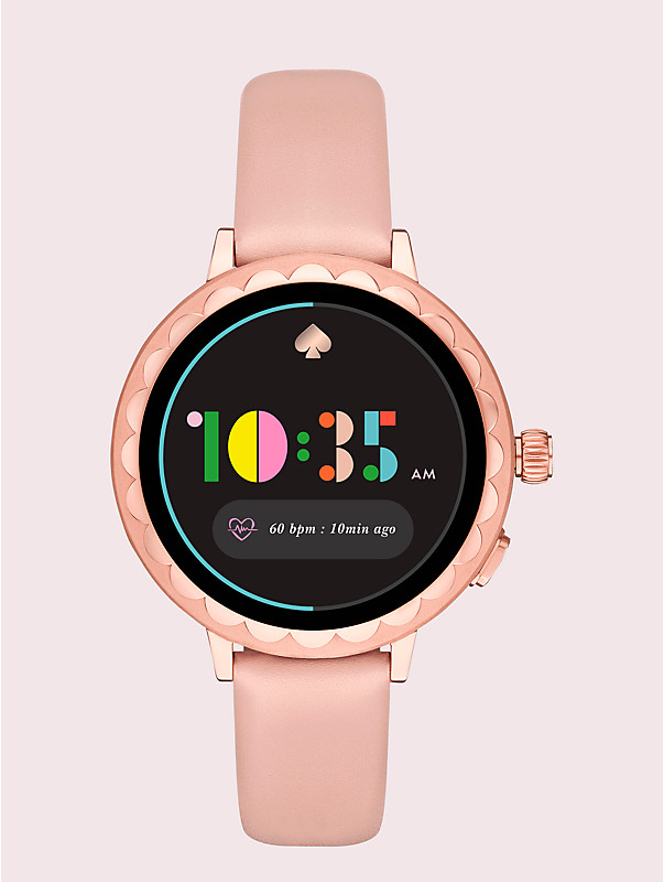 blush leather scallop smartwatch 2, , rr_large
