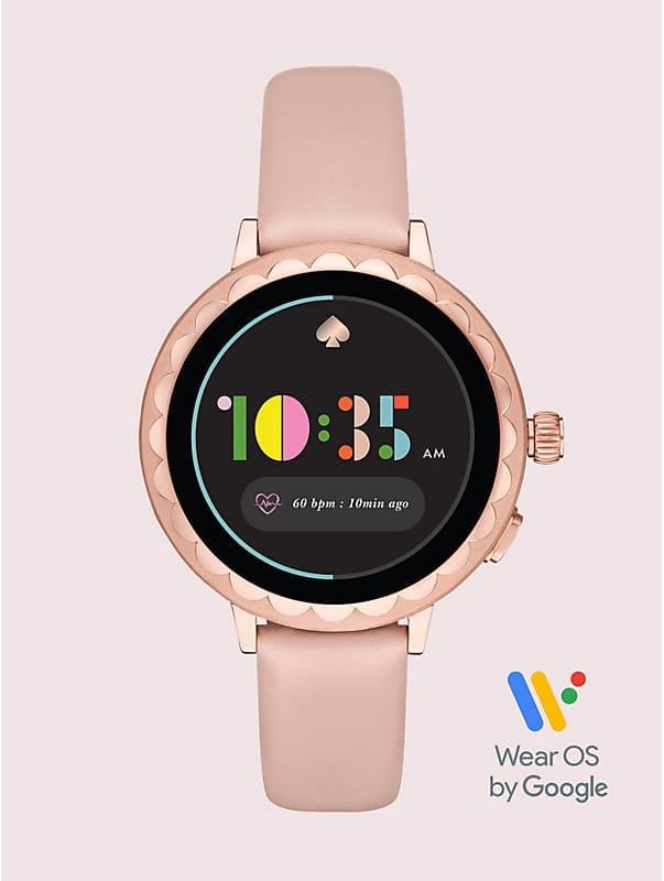Smartwatch 2 mit Wellenrand aus puderfarbenem Leder, , rr_large
